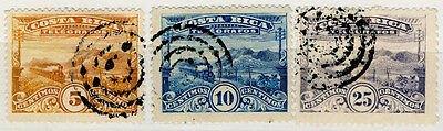 (I.B) Costa Rica Telegraphs : Railway Series Collection (1907)