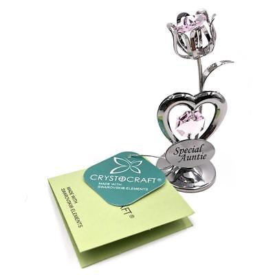 Auntie Gift - Crystocraft Celebration Tulip with engraving SP265