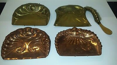 Vintage/antique Brass/copper Crumb/dust Tray Joblot/collection