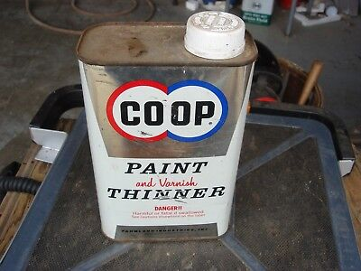 Vintage Advertising Coop Gas CO-OP Paint Thinner Oil  Can Lot #4 Empty