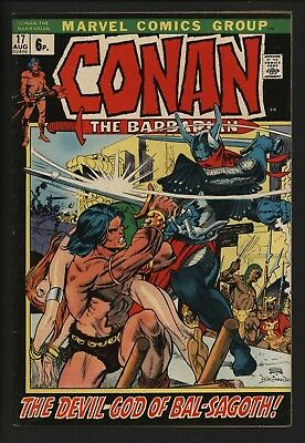 Conan The Barbarian #17 With Gil Kane Art From 1972 Great Value Mid Grade
