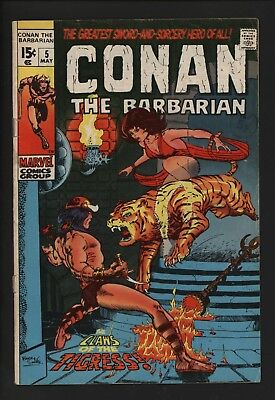Conan The Barbarian #5 Classic Barry Smith Art From 1971 Great Value Copy