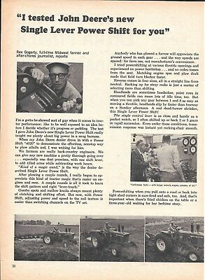1964 John Deere's Tractor New Single Lever Power Shift Ad