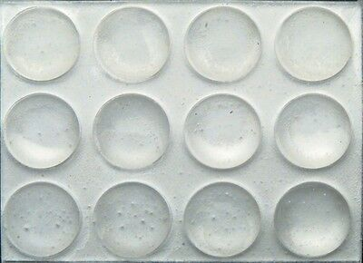 72 3/8 Round Rubber Bumpers Clear Surface Protector Pad Cabinet Crafts