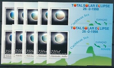 [H3107] Netherlands Ant. 1998 : Eclipse - 10x Good Very Fine MNH Hologram Sheet