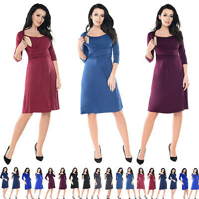 Purpless Maternity 2in1 Pregnancy and Breastfeeding Skater Dress Tunic Top 7240