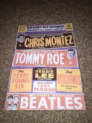 Repro Poster For The Gig At The Gaumont Wolverhampton With The Beatles