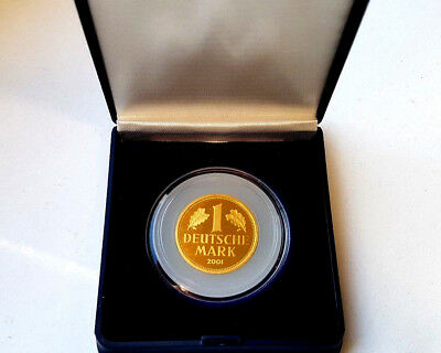 1 DM BRD 2001 Goldmark G Gold stgl. in Kapsel