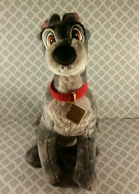 """Disney Store Tramp the Dog Plush from Lady and the Tramp 14"""" Toy  p8"""