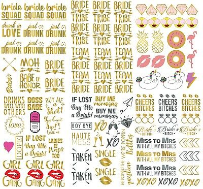 100+ Bachelorette Party Tattoos Bridesmaid Gift Bride Tribe Party Favors Hen