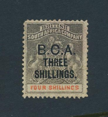 BRITISH CENTRAL AFRICA 1892, 3sh on 4sh VF USED SG#18 CAT £375 $500(SEE BELOW