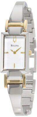 Bulova Mother of Pearl Dial Two Tone Stainless Steel Quartz Woman's Watch 98L149