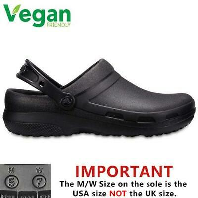 Crocs Specialist II Clog Mens Womens Black Work Clogs Shoes Size UK 4-13