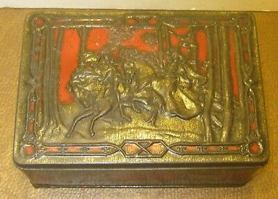 Antique RILEY'S TOFFEE Tin Collectible Trinket Box HALIFAX England NO RESERVE!!