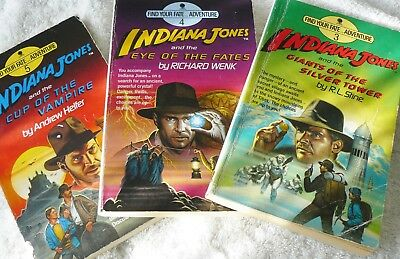 Indiana Jones Find Your Fate Adventure - 3 Books Numbers 3, 4, and 5  Paperbacks