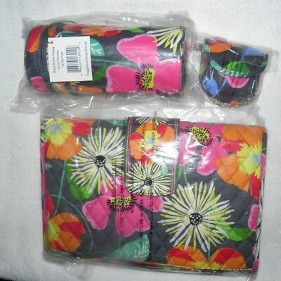 NEW Vera Bradley BABY Jazzy Blooms DIAPER CHANGING PAD  BOTTLE CADDY PACI POD
