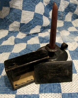 Early Primitive Antique Slide Lid Candle Box, 4 1/2 Inches Long