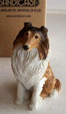 Sandicast COLLIE, ROUGH, SABLE/WHITE  #M154  New with Box