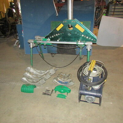 Greenlee No. 884-885 Portable Hydraulic Bender w/Table 1802 electric pump