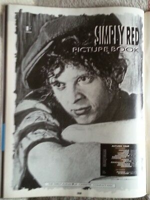 SIMPLY RED Picture Book Tour 1985 magazine ADVERT / Poster 11x8 inches