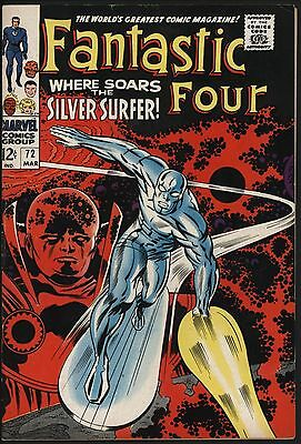 Fantastic Four #72 Classic Silver Surfer! Glossy Cents With Off White Pages