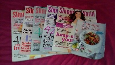 Slimming world magazine bundle  X 5 with recipe booklet. (lot 01)