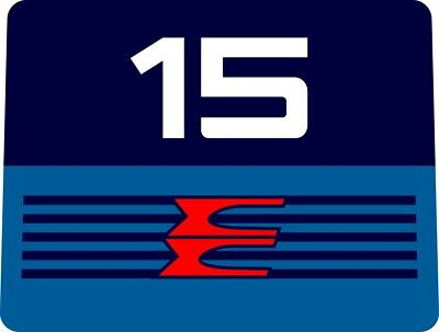 1986  EVINRUDE  9.9 or 15 hp Outboard decal set reproductions