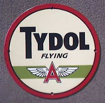 Tydol Flying A Porcelain Round Sign *nr