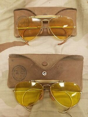 2 Pair Of Vintage Ray Ban Sunglasses With Cases