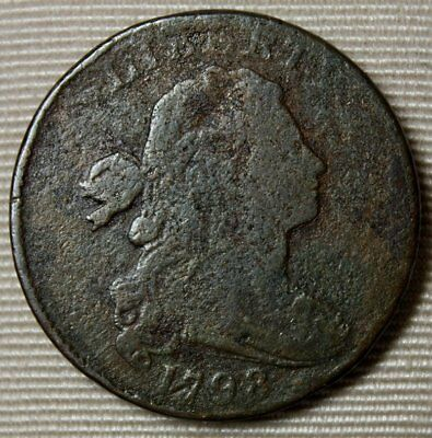 1798 Draped Bust Large Cent * Wonderful Details * Cool Old Copper * FREE SHIP