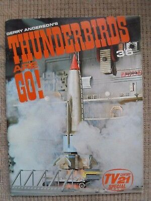 Vintage Gerry Anderson Thunderbirds Are Go Tv21 Special Photo Magazine 1966.
