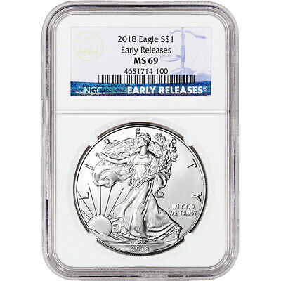 2018 American Silver Eagle - NGC MS69 - Early Releases