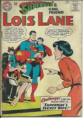 No Reserve Sale! Lois Lane No. 55 (1965) In Fair/good Condition