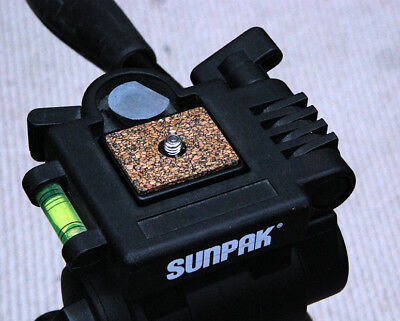 Flush Mount Metal Quick Release Plate for Sunpak 7500 Series tripods