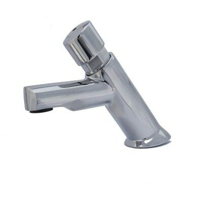 Timed Pillar Tap Basin Mixer Solid Brass Chrome 6 Seconds Commerical Domestic