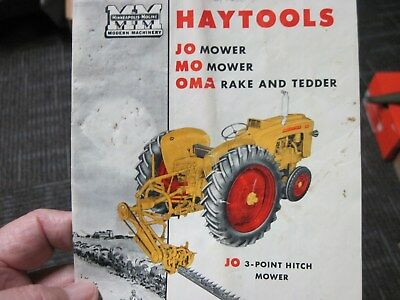 Vintage Pre-Owned Minneapolis-Moline Haytools Brochure. No.86557-T CP.
