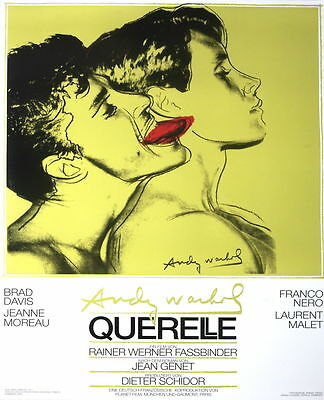 Querelle (Green) by Andy Warhol Art Print Original 1982 Film Poster 1st Printing