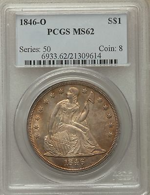 1846-O US Seated Liberty Silver Dollar $1 - PCGS MS62