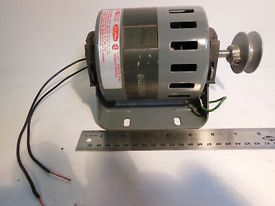 """DAYTON Electric Motor,1/10 HP,1550 rpm,115V, 3M580a with 2"""" pulley smooth runner"""
