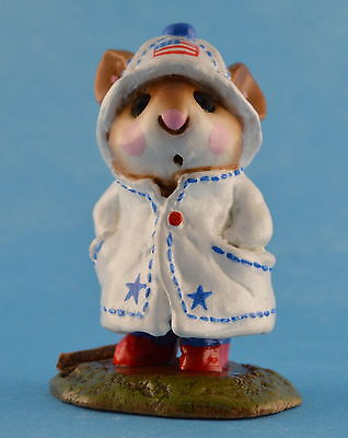 APRIL SHOWERS by Wee Forest Folk, WFF# M-180, Patriotic Mouse LTD