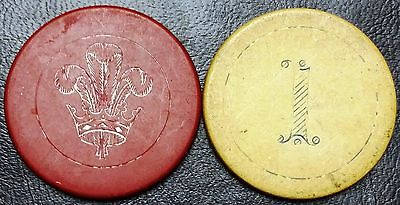 Lot of 2 Vintage Gaming Chips - SCARCE - Free Combined Shipping