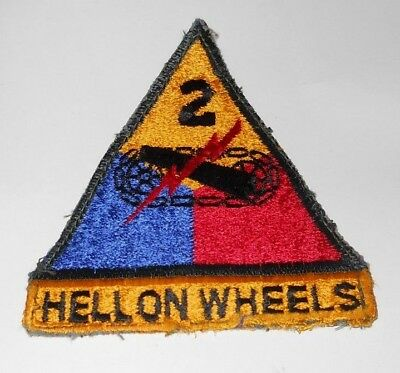 Vintage WWII Hell On Wheels 2nd ARMORED TANK Division Patch