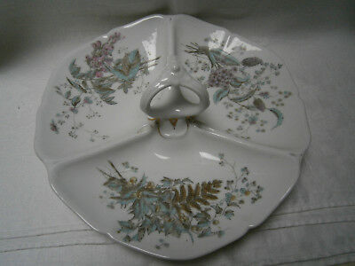 Large Antique Divided Serving Plate For Savouries Or Sweets - High Tea