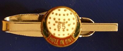 Old Dunlop Golf Ball 65, HOLE IN ONE Tie Pin by K G Luke Melbourne