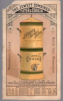 Vintage Victorian Trade Card, The Jewett Combined Filter And Cooler