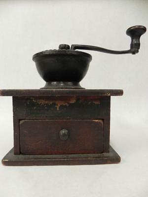 Antique Arcade Imperial Primitive Cast Iron And Wood Coffee Grinder Mill