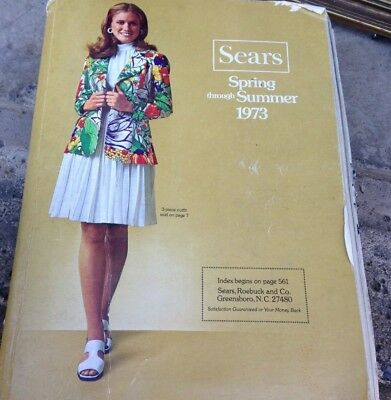 Vintage Original SEARS CATALOG Spring and Summer 1973 Cool retro fashions!