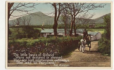 Going To Market Ireland Vintage Postcard 321a