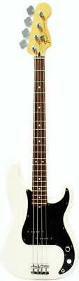 FENDER STANDARD OLYMPIC WHITE 2009 4-STRING PRECISION BASS GUITAR w/ GIG BAG MIM