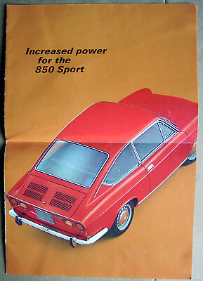 FIAT 850 Sports Coupe brochure 1960's